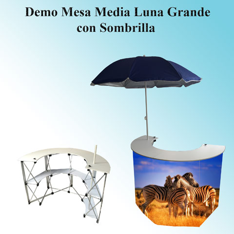 Demo Media Luna con Sombrilla Grande